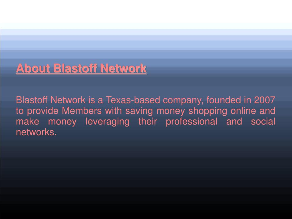 About Blastoff Network