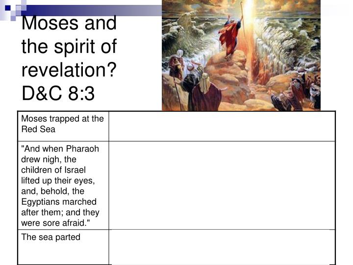 Moses and the spirit of revelation?
