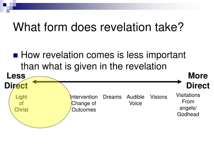 What form does revelation take?