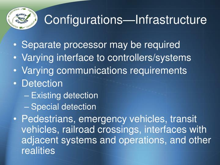 Configurations—Infrastructure