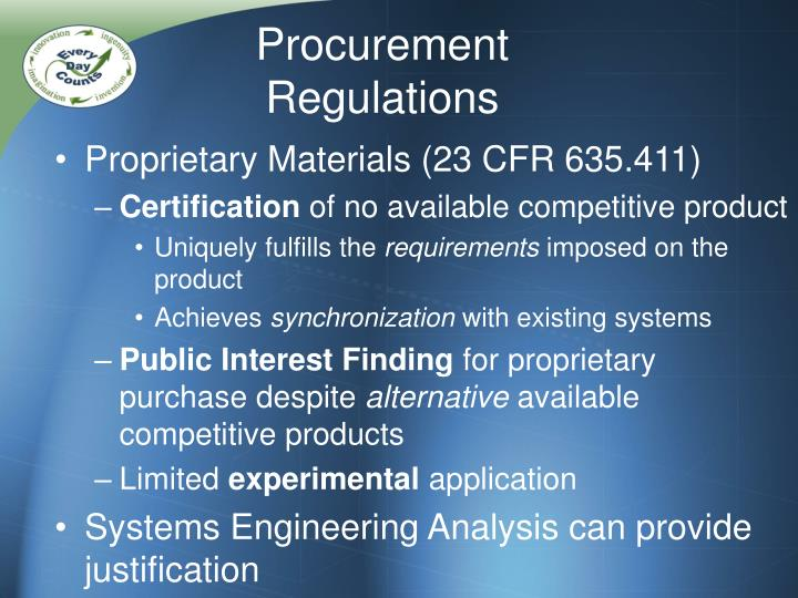 Procurement Regulations