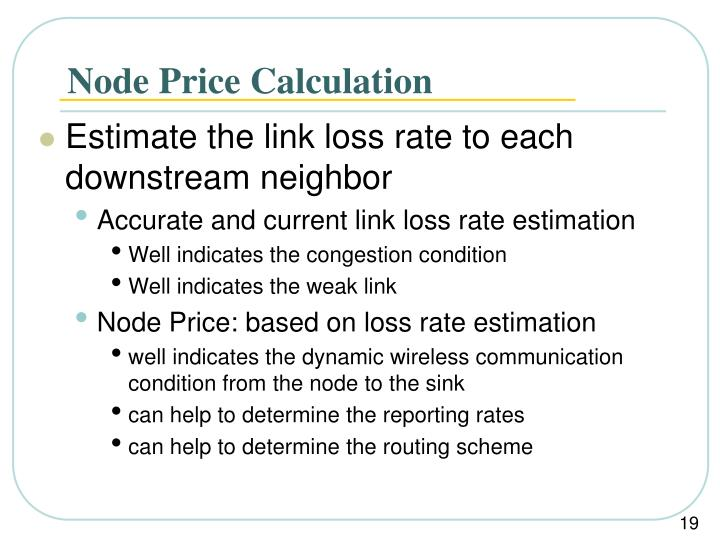 Node Price Calculation
