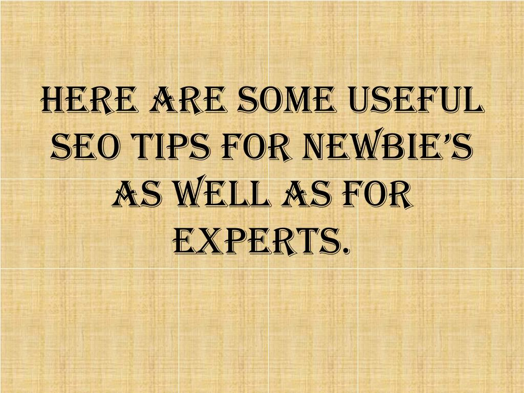 Here are some useful SEO tips for newbie's as well as for experts.