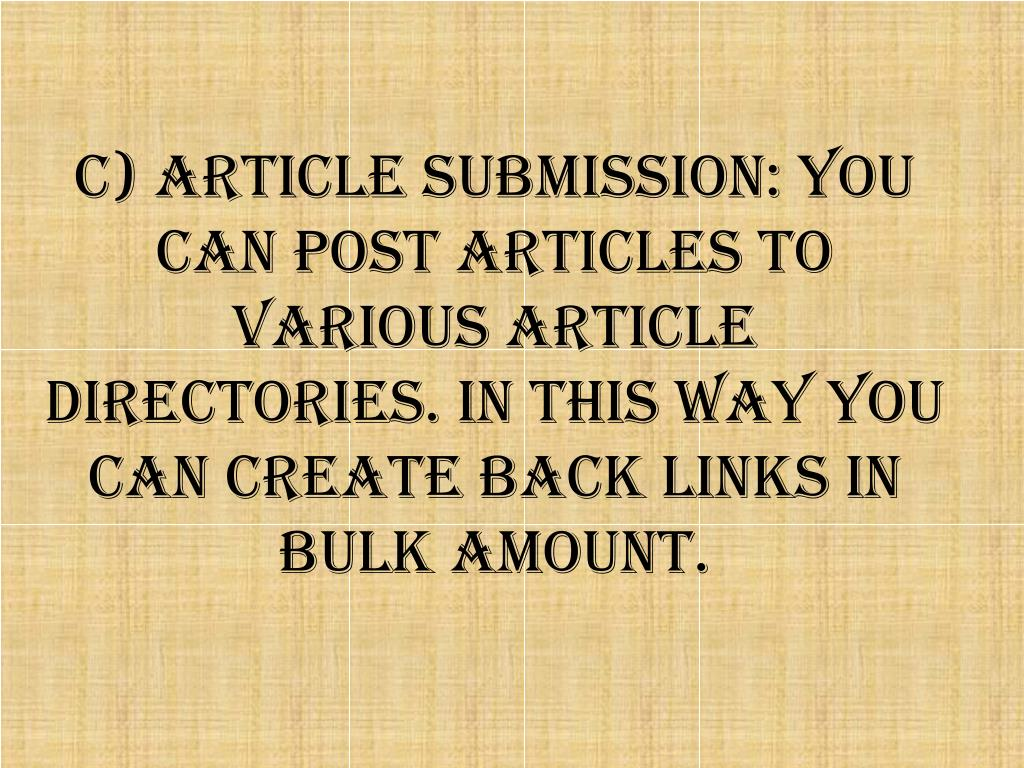 c) Article