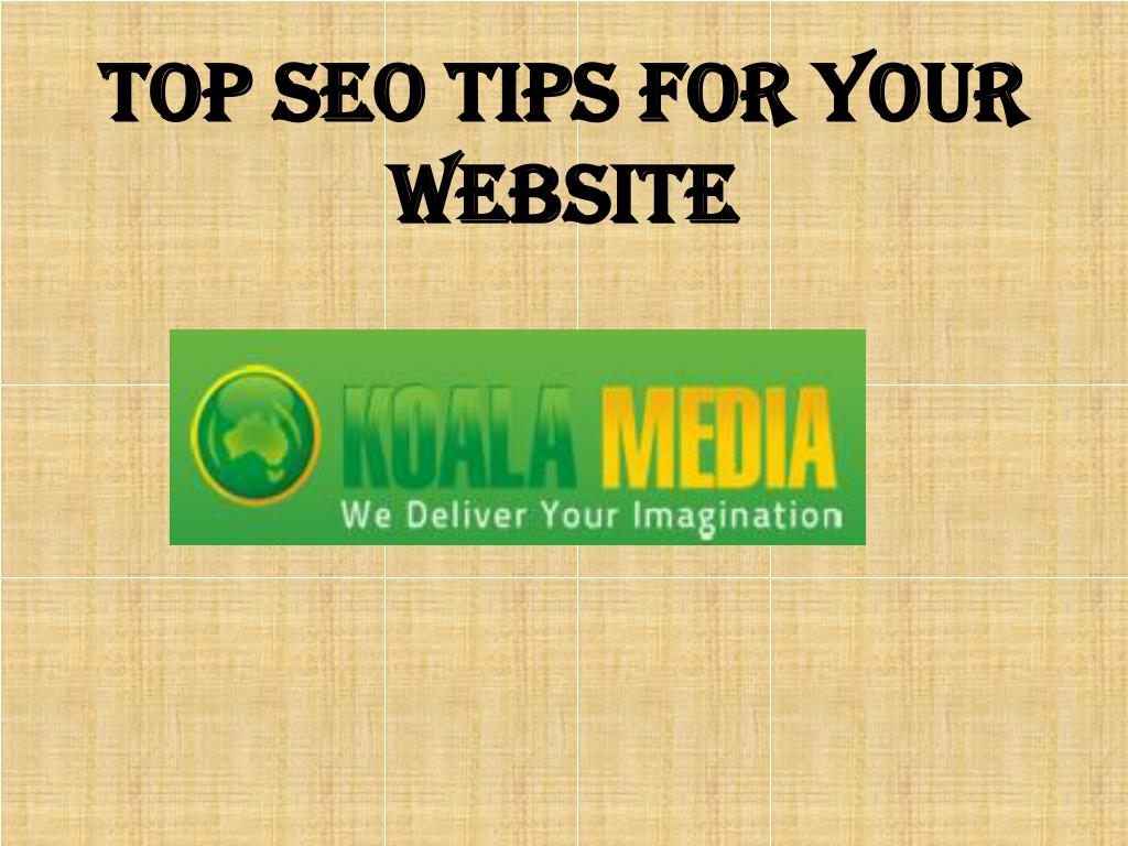 Top SEO Tips for your