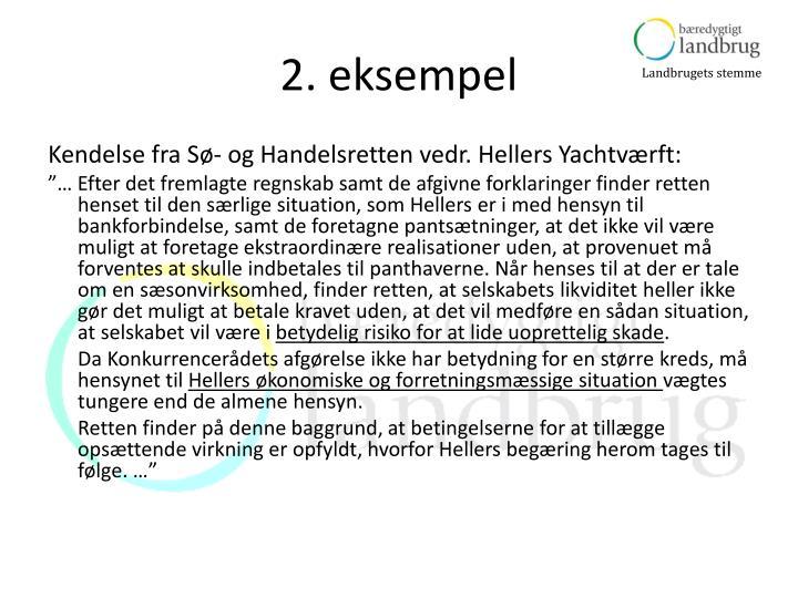 2. eksempel