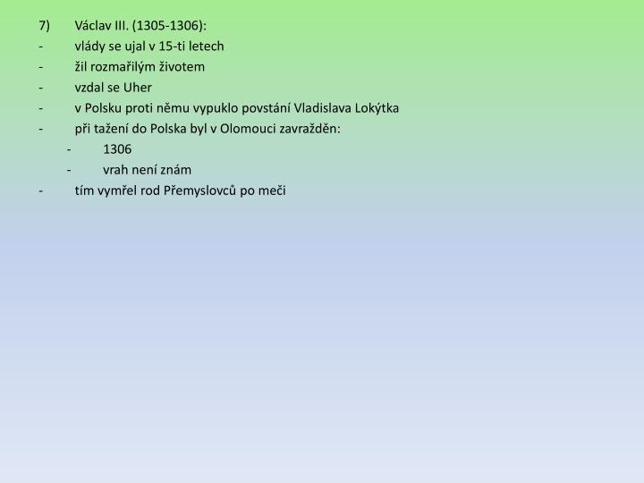 Václav III. (1305-1306):
