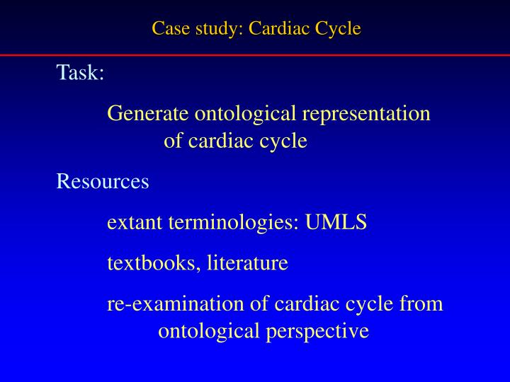 Case study: Cardiac Cycle