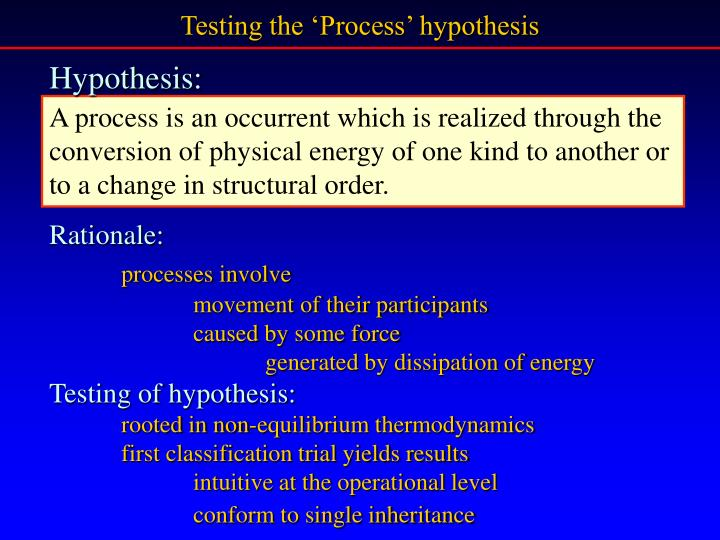 Testing the 'Process' hypothesis