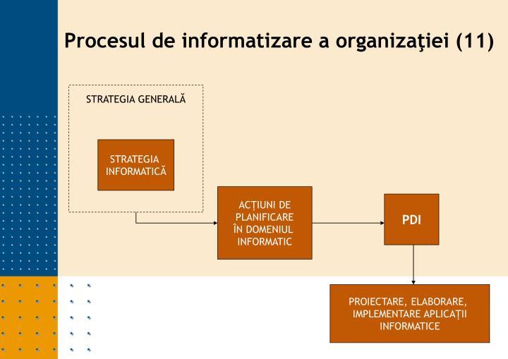 Procesul de informatizare a organizaţiei (11)