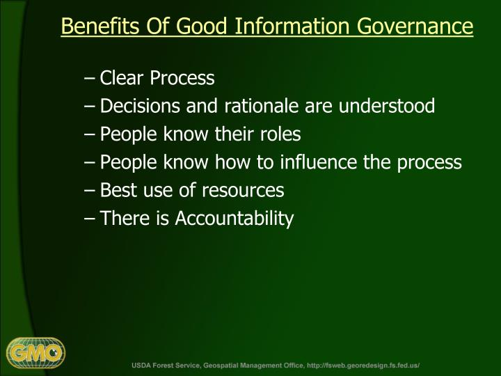 Benefits Of Good Information Governance