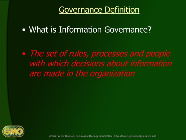 Governance Definition