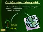 our information is geospatial