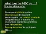 what does the fgdc do it builds alliances to1