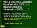 what is the federal geographic data committee fgdc and national spatial data infrastructure nsdi