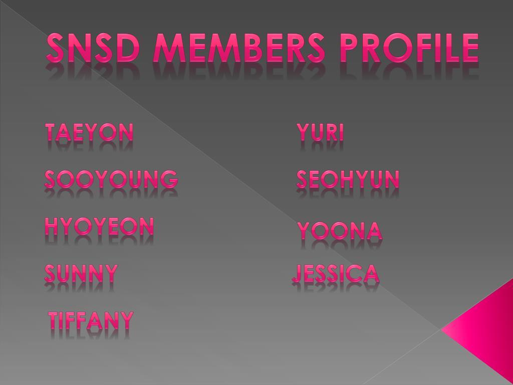 SNSD Members Profile