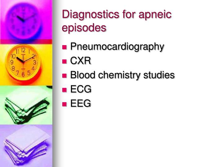 Diagnostics for apneic episodes