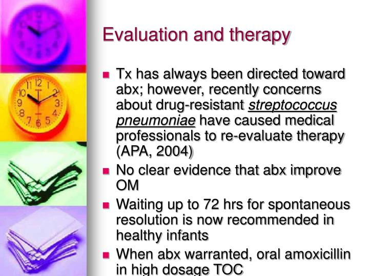 Evaluation and therapy