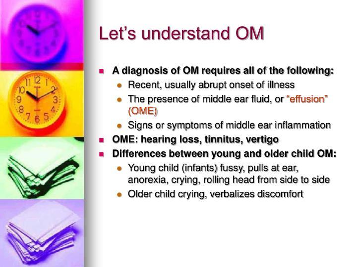 Let's understand OM