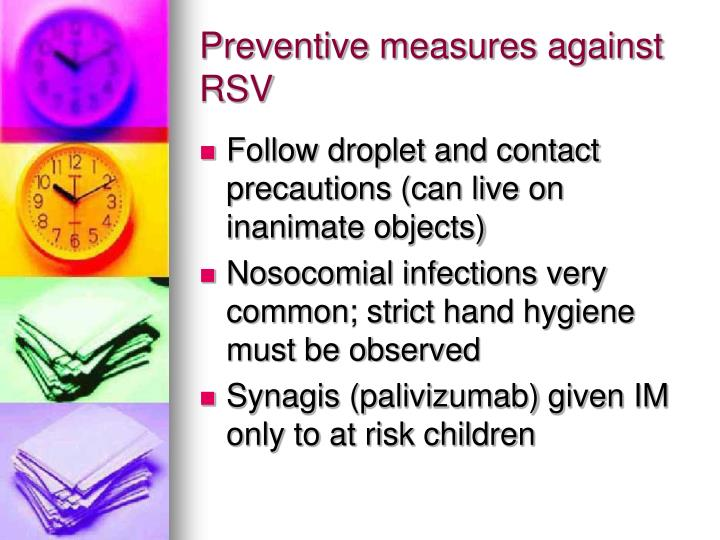 Preventive measures against RSV