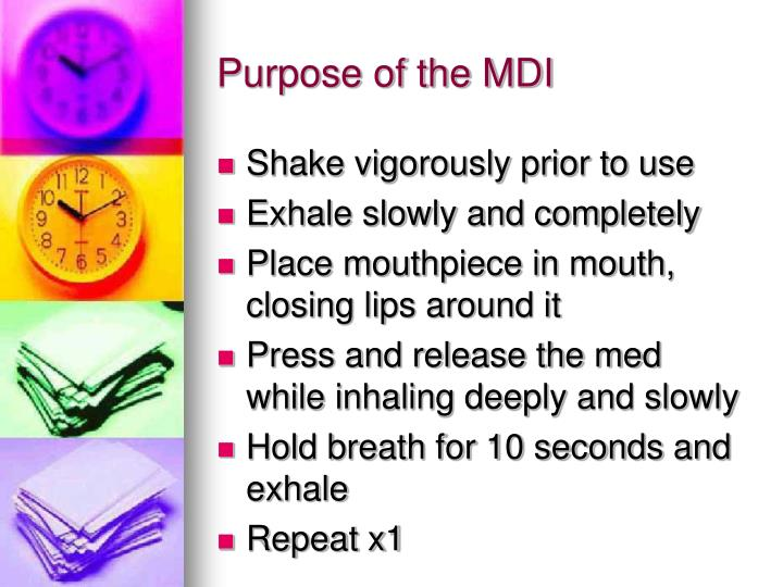 Purpose of the MDI
