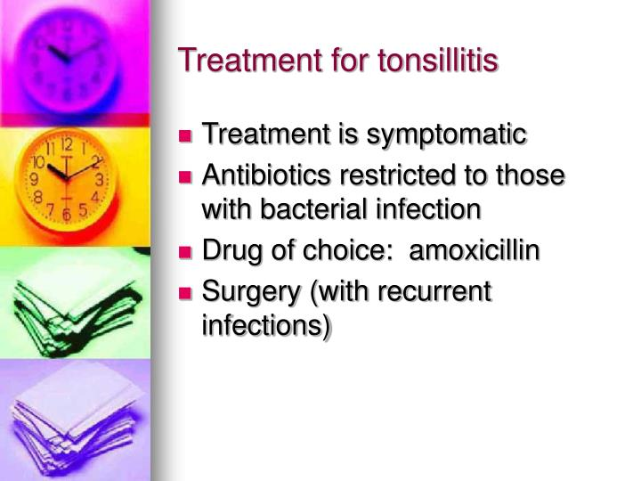 Treatment for tonsillitis
