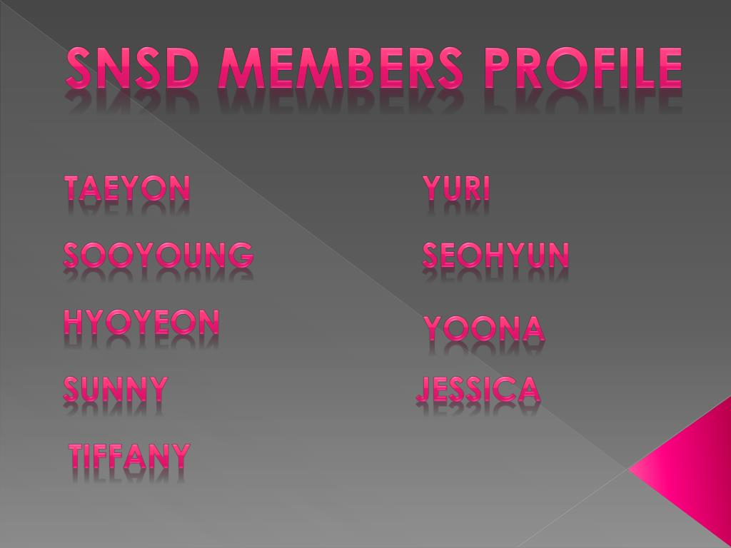 SNSD Members Profile
