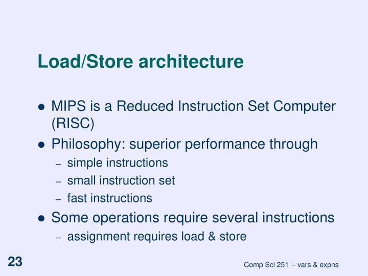 Load/Store architecture