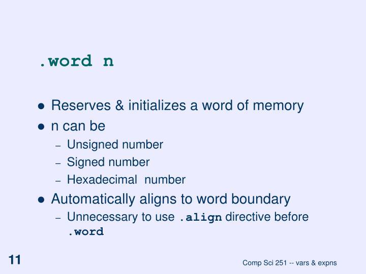 .word n