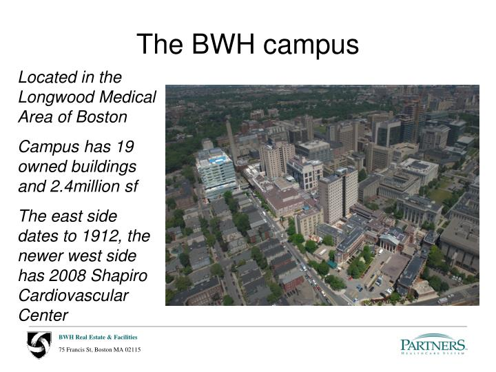 The BWH campus