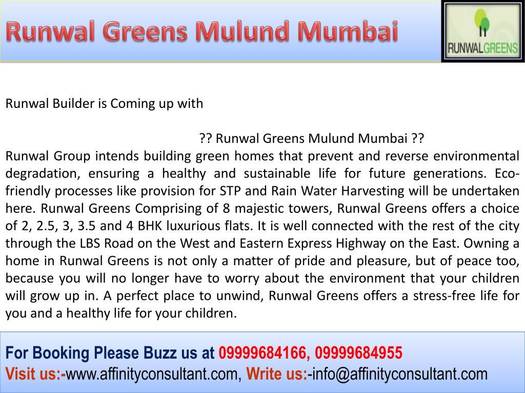Runwal Greens Mulund Mumbai