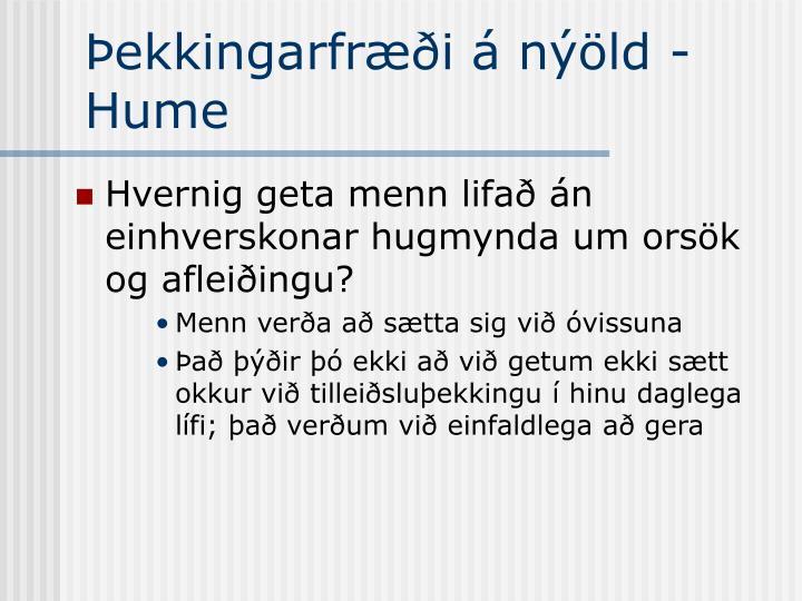 Þekkingarfræði á nýöld - Hume
