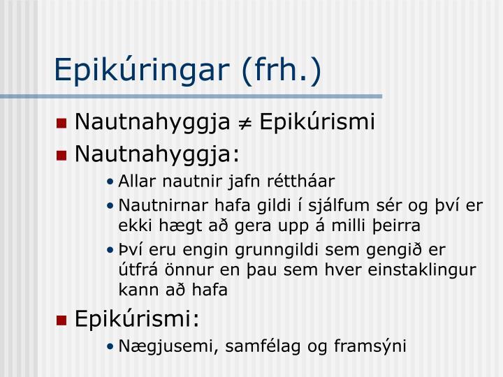 Epikúringar (frh.)