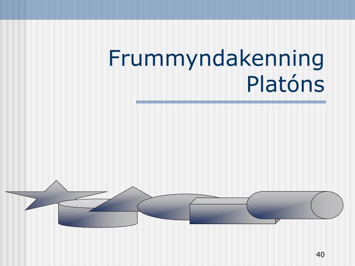 Frummyndakenning Platóns