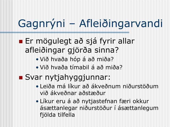 Gagnrýni – Afleiðingarvandi
