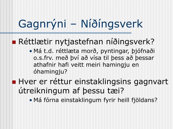 Gagnrýni – Níðíngsverk