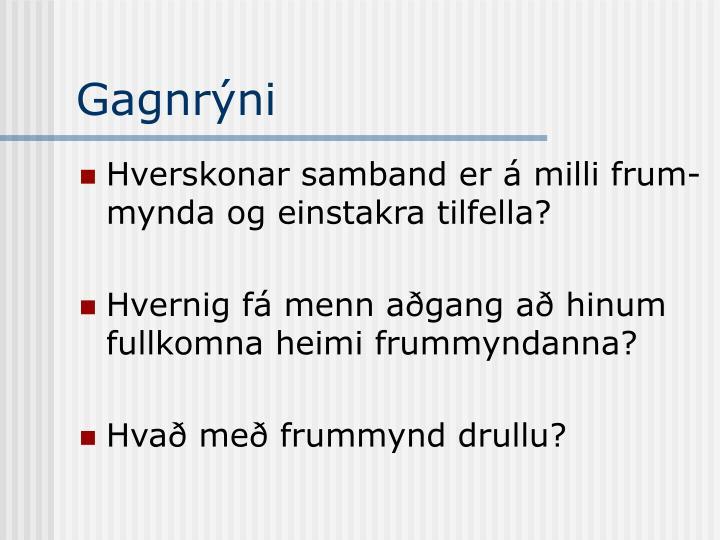 Gagnrýni