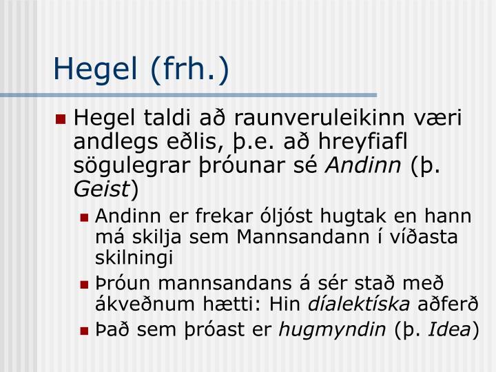 Hegel (frh.)