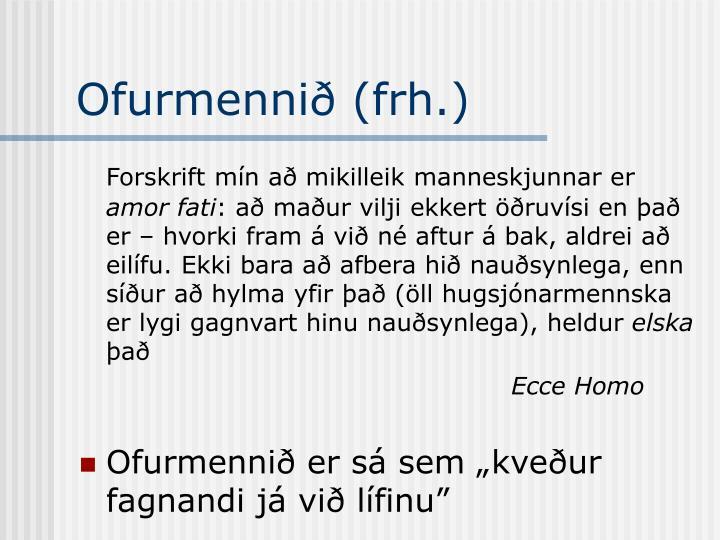 Ofurmennið (frh.)