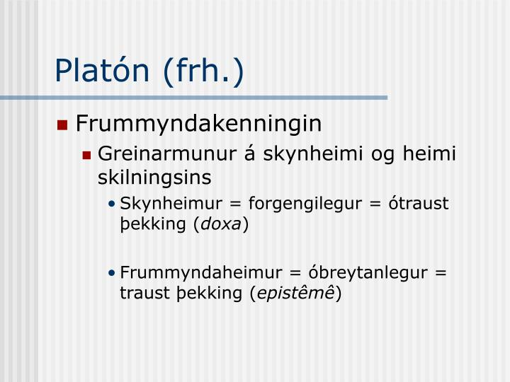 Platón (frh.)