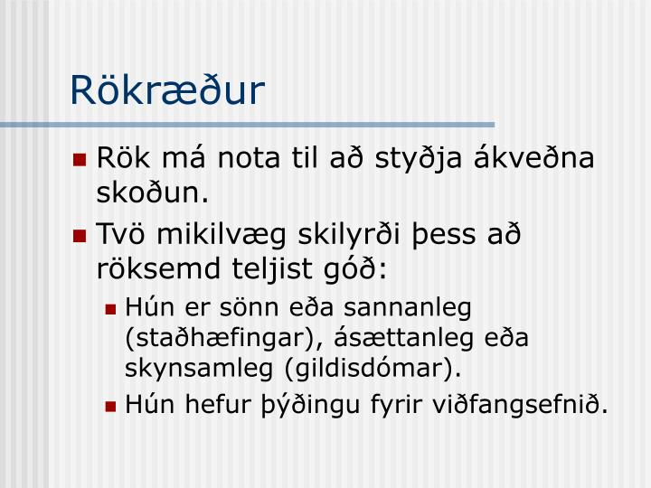 Rökræður
