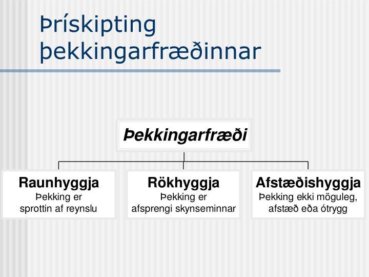 Þrískipting þekkingarfræðinnar