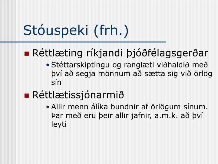 Stóuspeki (frh.)