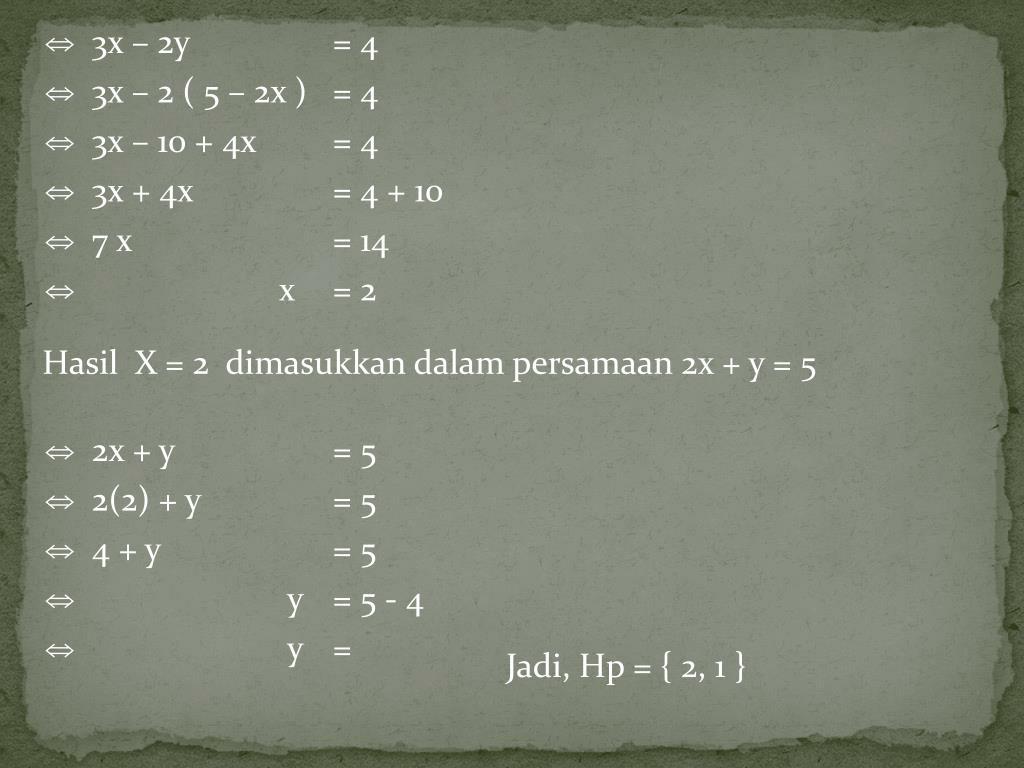 3x – 2y = 4