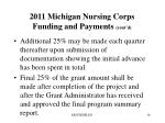 2011 michigan nursing corps funding and payments cont d