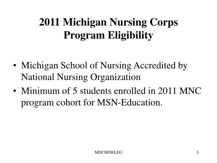2011 Michigan Nursing Corps
