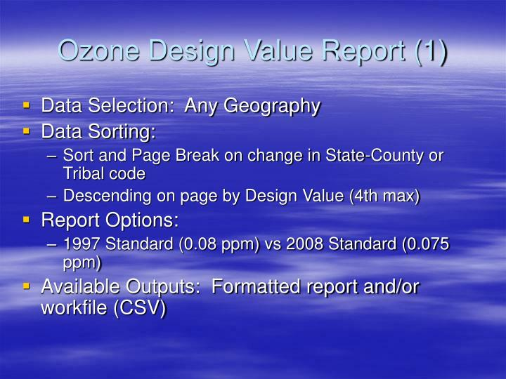 Ozone Design Value Report (1)
