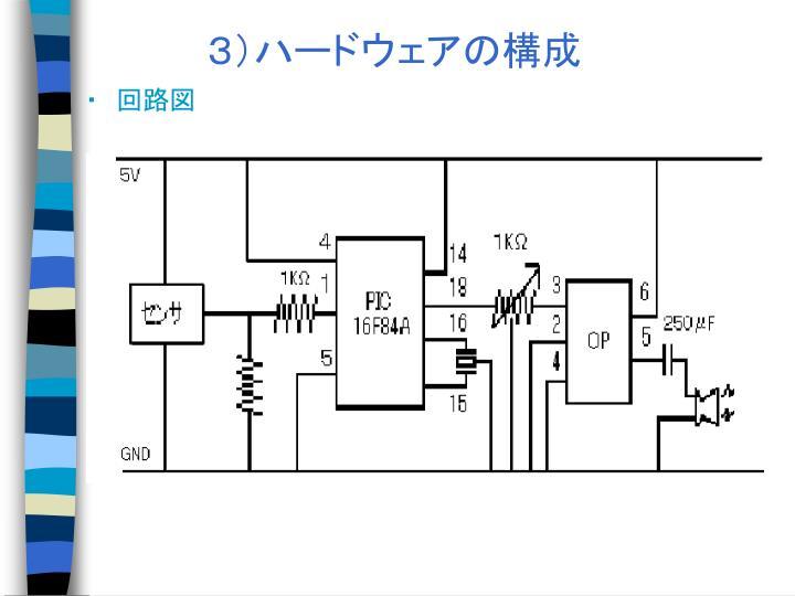 3)ハードウェアの構成