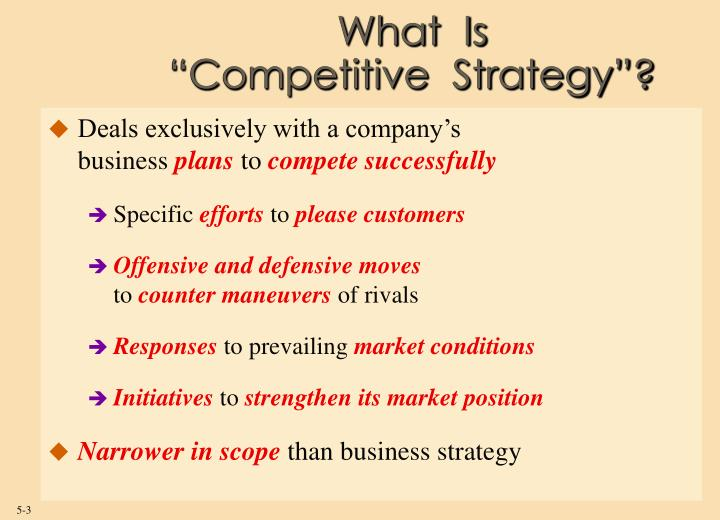What is competitive strategy