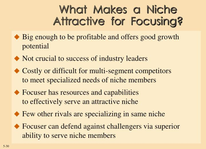 What  Makes  a  Niche